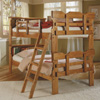 Solid Wood Bookcase Twin over Twin Bunk Bed BK-1500(WC)