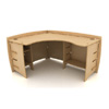 60 In. Corner Desk CDB-120 (LF)