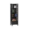 Anna Collection Tall Narrow 5 Shelf Bookcase 86102C124-AB-KD