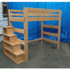 Solid Wood Adult Loft Bed 1000 Lbs Wt. Capacity With Stairs