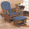 Oak Finish  Glider/Ottoman 2264  (A)