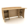 60 In. Straight Desk w/12 In. Shelves SDB-140_ (LF)