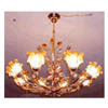 Chandelier with Crystal Flower Shade SP-018/8 (HT)