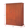 Solid Wood Wardrobe WD-833_(ALA)