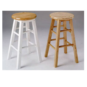 Solid Wood Bar Stool Set Of Two 273_ (AFS18)