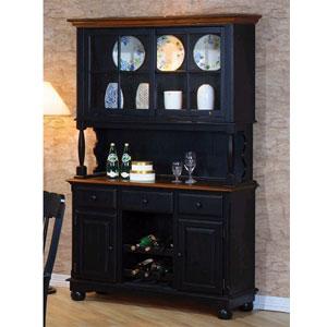 Buffet/Hutch & China Cabinets: Classic Country Black Pine Buffet ...