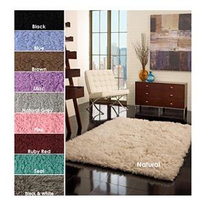 Hand-woven Alexa Standard Flokati Wool Shag Rug 11772821(OFS