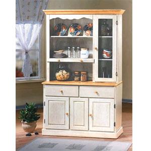 Buffet/Hutch & China Cabinets: Antique White Light Oak Buffet ...