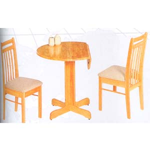 3-Pc All Natural Dining Set 1220-30/60 (WD)