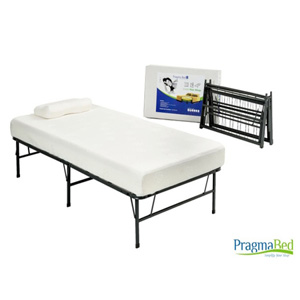 Quad-Fold Twin XL Frame with Memory Foam MattressKTXB_(PBFS