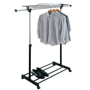 Adjustable Garment Rack with Shelf 1703W-1(OIFS20)