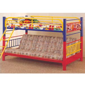 Multi Color Twin Futon Bunk Bed 2049 CO