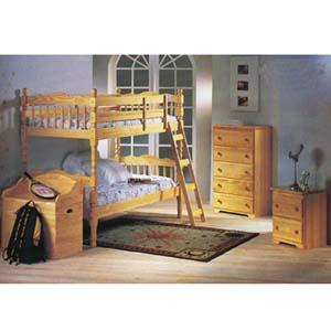 Bunk Bed Bedroom 4 Pcs Set 2299Set (A)