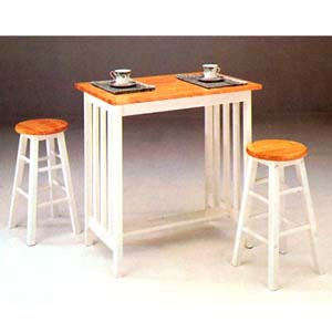 Natural White Mission Style Breakfast Set 2412NW (AFS50)
