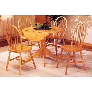Dinette Sets: Solid Wood 40 In Drop Leaf Table 9255 WD ...