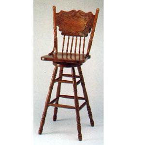 Nostalgia Oak Finish  Swivel Bar Chair F4127 (PX)