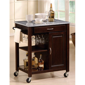 Merveilleux Eden Granite Top Kitchen Cart 2696 (A)