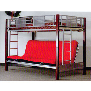 Medium image of vernon twin full convertible futon bunk bed 2785  a