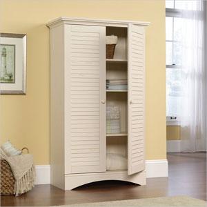 Harbor View Storage Cabinet in Antiqued White 284011(CMXFS)