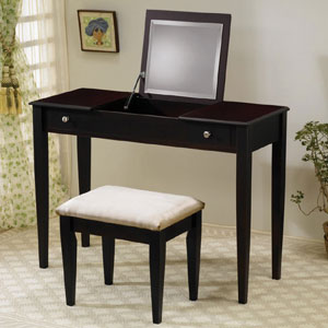 Vanity Table Set in Rich Cappuccino 300080(CO)
