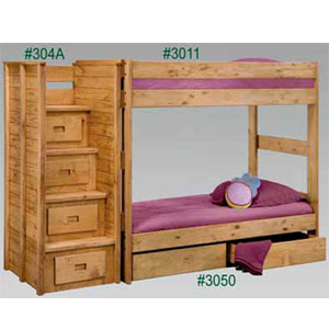 Stairs bunk or loft beds twin twin bunk bed stairs and under bed drawers 3011 304 pc - Bunk bed with drawer steps ...