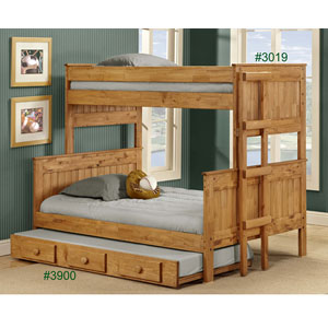 Bunk Beds Solid Wood Twin Full Stackable Bunk Bed 3019 PC