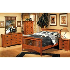 San Juan Mission Style Solid Oak Mission Bedroom Set | Amish ...