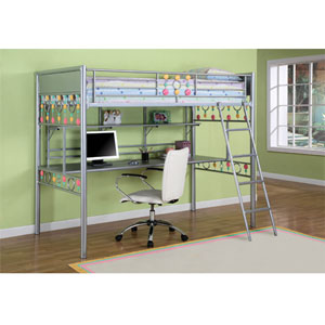 Bauble Twin Study Loft Bed 334-119 (PW)