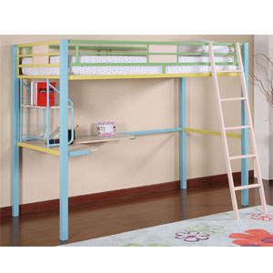 Loft Bed Sunday Funnies Twin Study Loft Bed 343 119 Pw