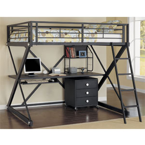Loft Bed Z Bedroom Full Size Study Loft Bed 354 117 Pw