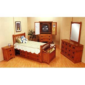 5-Piece Mission Style Oak Finish Bedroom Set 3791_ (CO)