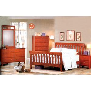 5-Pc Brandy Finish Bedroom Set 3929_ (CO)