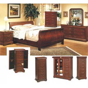 Louis Phillipe Cherry Finish Bedroom 3981_ (CO)