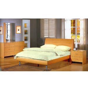 5-Piece Contemporary Maple Bedroom Set 3995_ (CO)