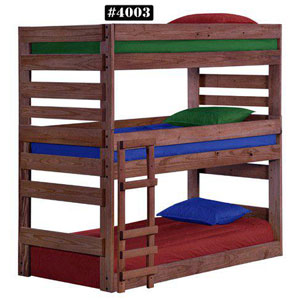 Wooden Bunk Beds Solid Wood Twin Stackable Triple Bunk