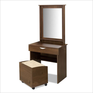 Truffle Vanity and Mirror 401216(NX)