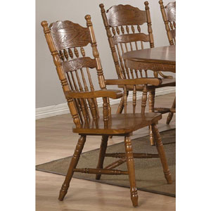 Pressed Back Chair Trieste Windsor Country Style Arm