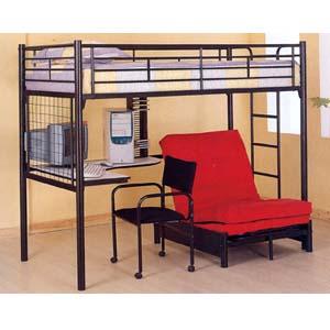 twin size loft bed with desk. Black Bedroom Furniture Sets. Home Design Ideas