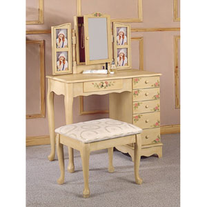 Vanity Table Set in Ivory 4038(COFS)