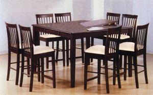 9-Piece Cappuccino Dining Set 4163/4263 (PJ)