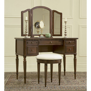 Vanity Mirror and Bench in Cherry Finish 429-290(PWFS)