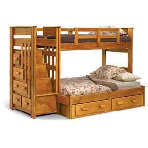 Escalade Solid Wood Twin  Bunk Bed 4500 (ML)
