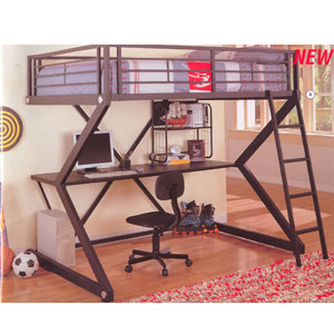 Full Size Workstation Loft Bed 460092(CO)