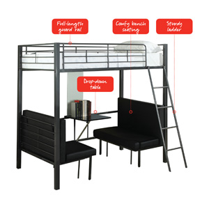 Multi-Function Twin/Twin Bunk Loft 460264(CO)