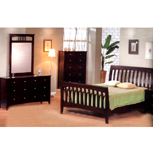 5-Pc Cappuccino Finish Bedroom Set 4876_ (CO)