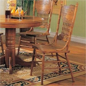 Solid Oak Dining Chair 5275AN(CO)