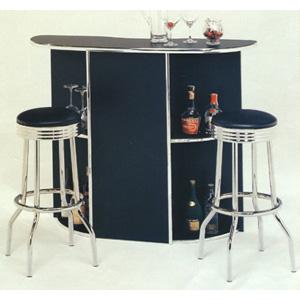 Chrome Plated Black Bar Set 6020/2408 (CO)