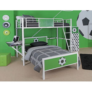 Goal Keeper Twin Loft Bed with Desk 6095(PWFS)