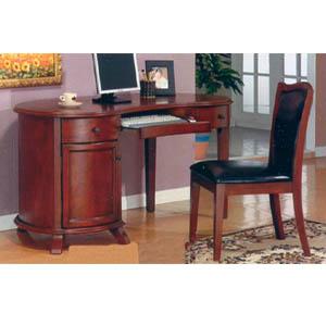 Computer Desk & Bi-Cast Leather Chair 65003/35003 (HB)