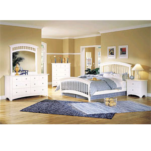 Fantasy Bedroom Set in White Finish 6516 (A)